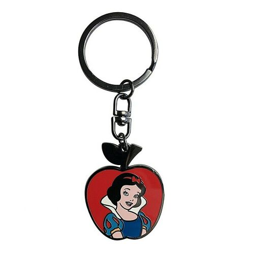 Disney Classic Snow White Apple Disc Keyring Metal Keychain Fob